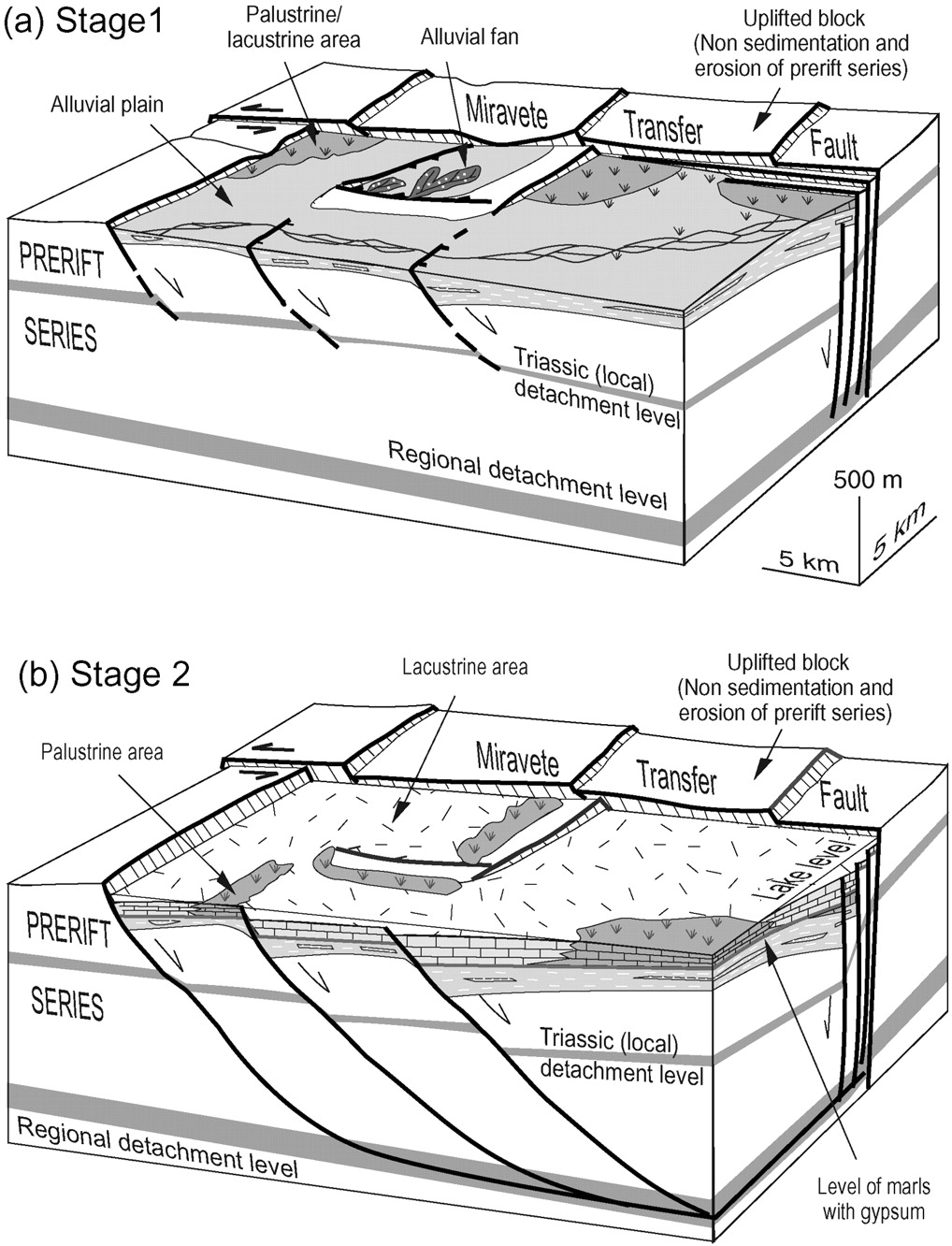 Extensional fault control on the sedimentation patterns in