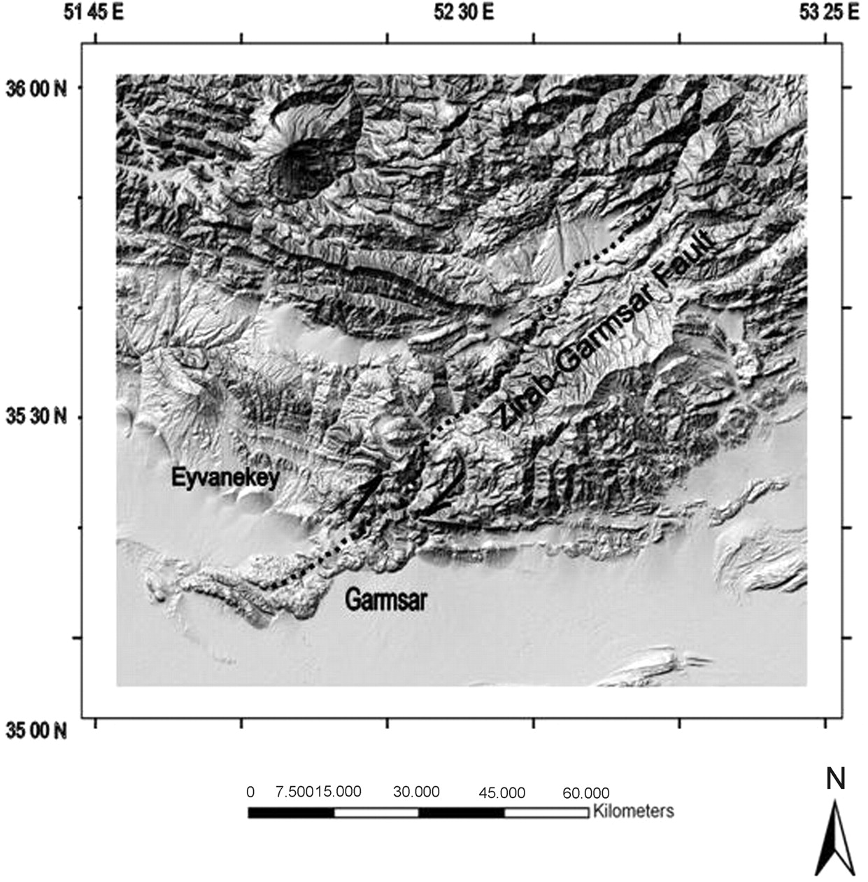 InSAR maps and time series observations of surface
