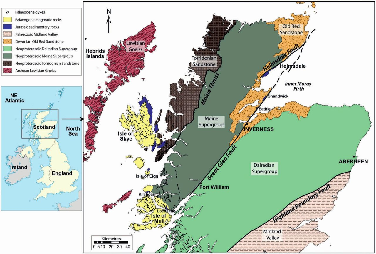 cenozoic reactivation of the great glen fault scotland