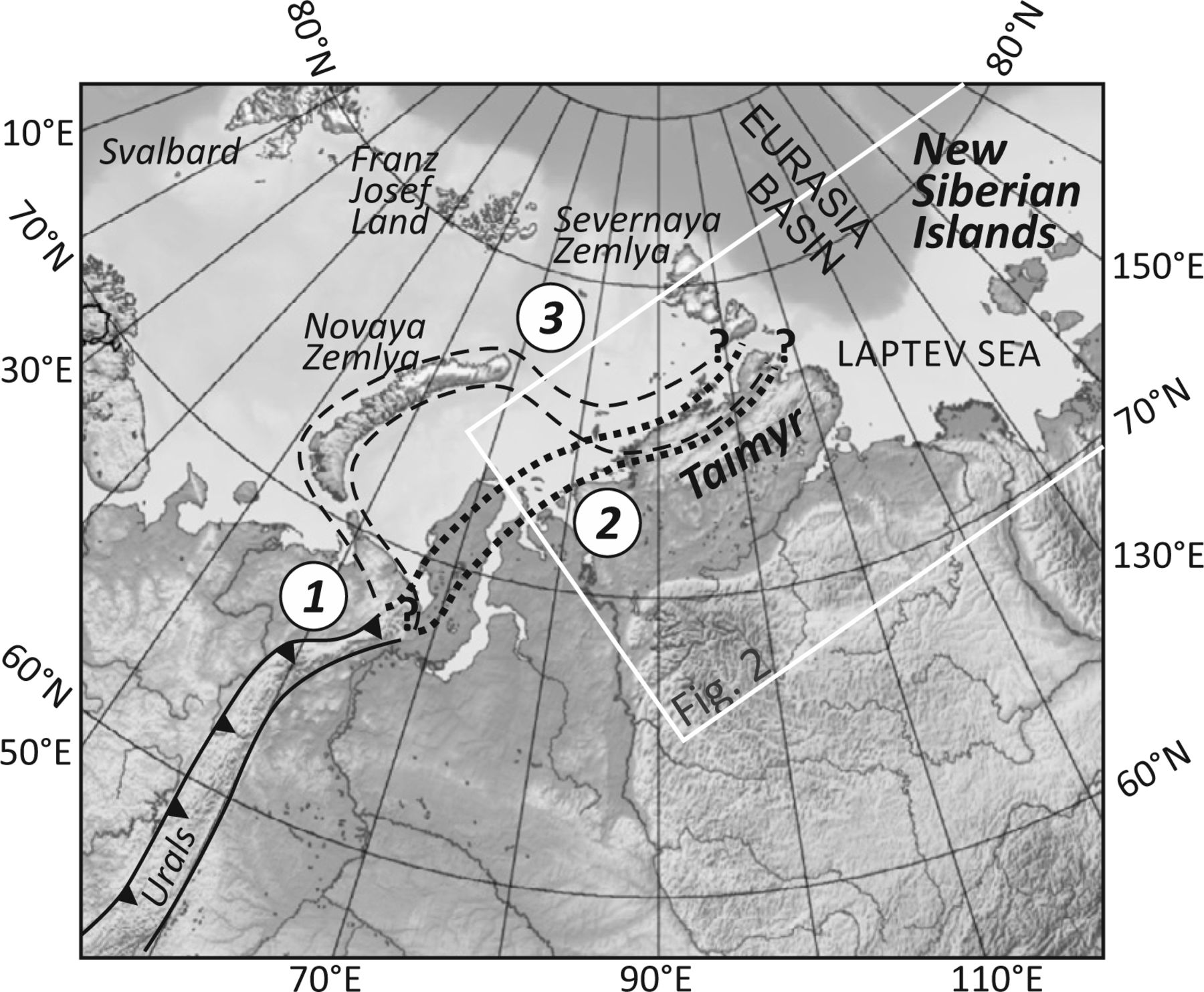 The New Siberian Islands and evidence for the continuation of the