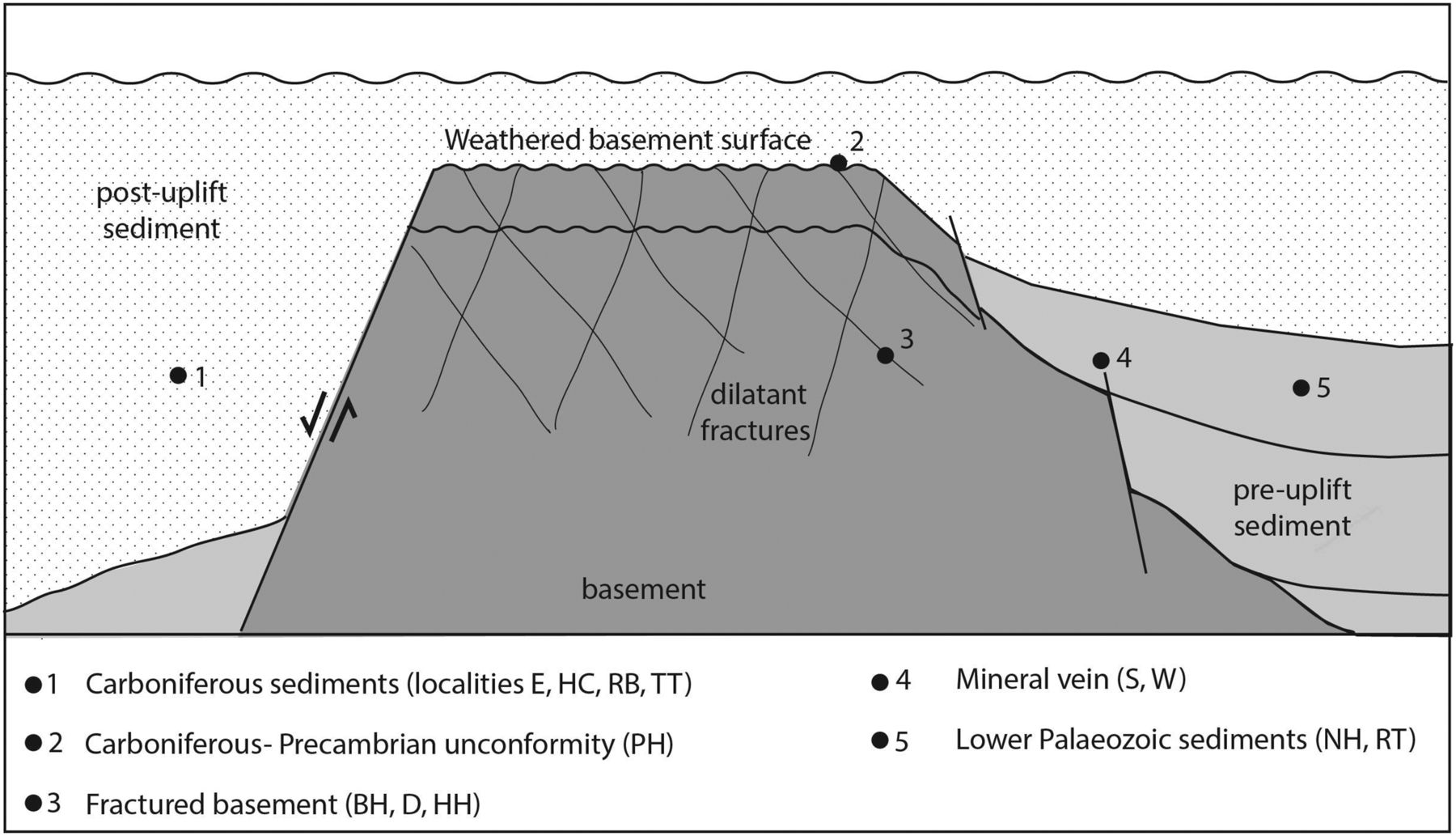 Subsurface biodegradation of crude oil in a fractured basement