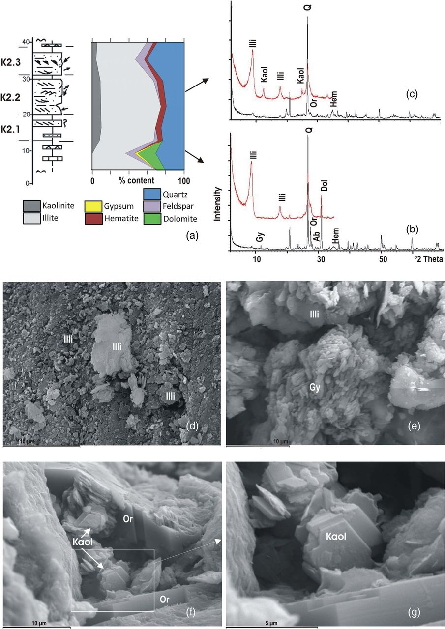 Sedimentology, clay mineralogy and palaeosols of the Mid