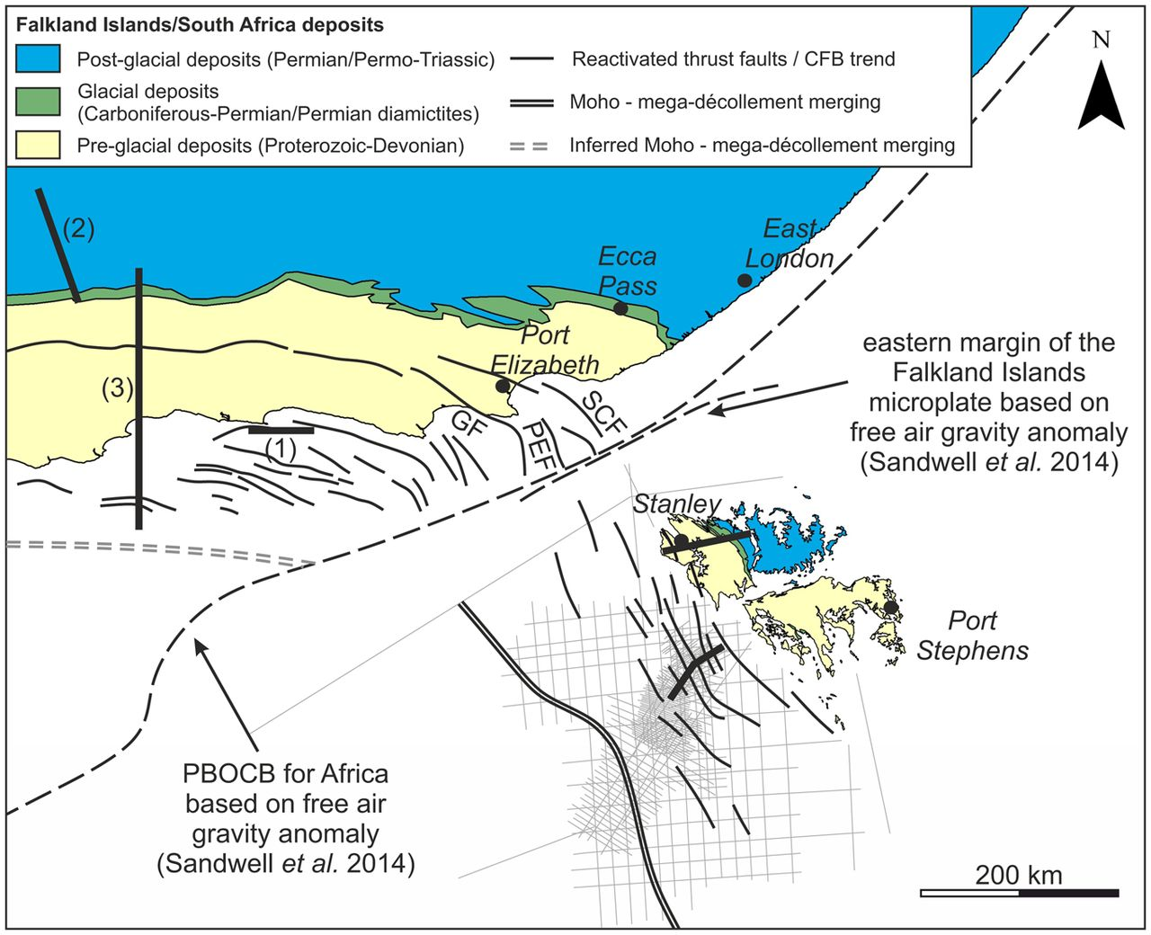 A revised position for the rotated Falkland Islands microplate